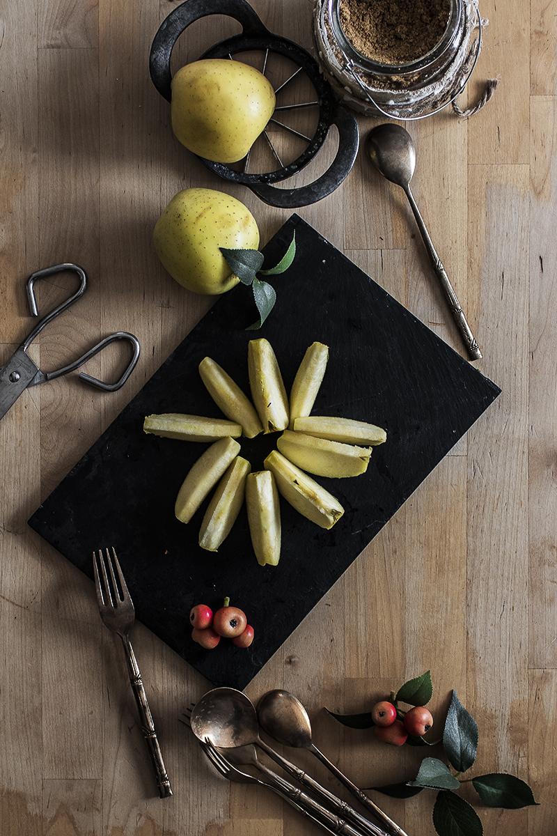 Manzana fotografia gastronomica
