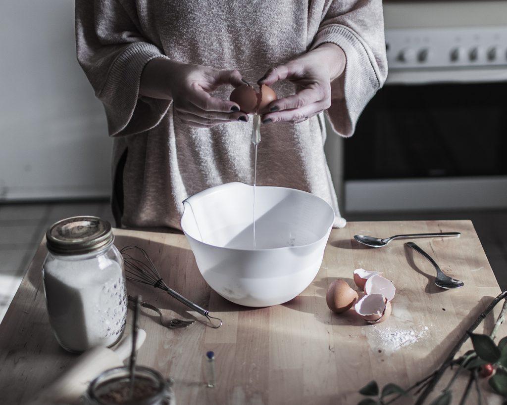 Preparacion clafoutis fotografia gastronomica
