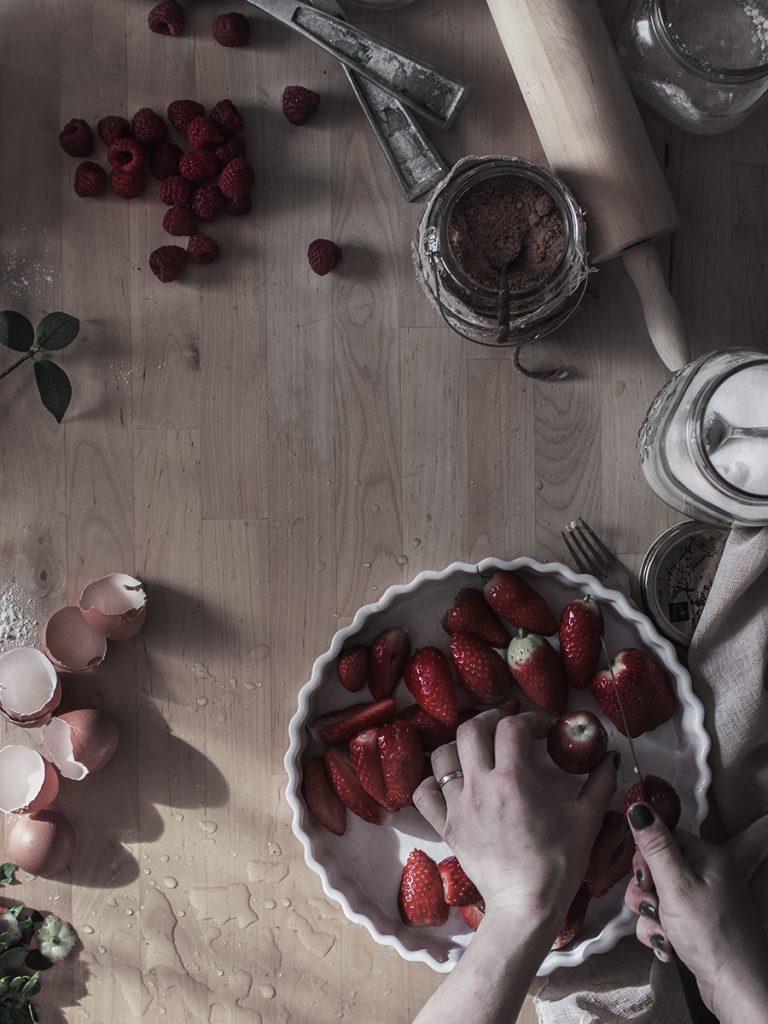 Receta clafoutis frutos rojos fotografia