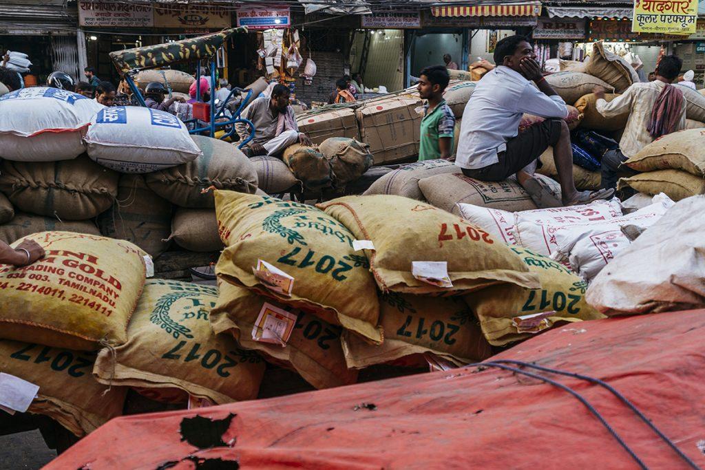 Mercado de las especias Delhi India