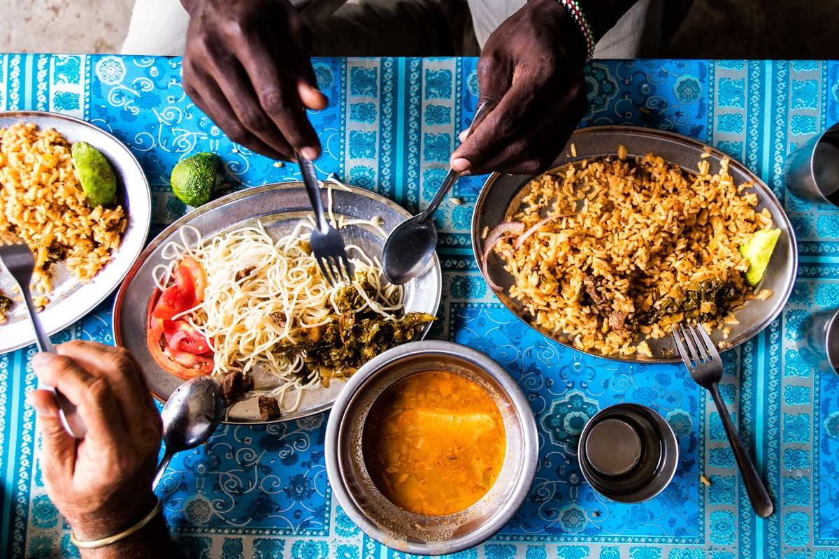 Comida musulmana en Kakuma Turkana