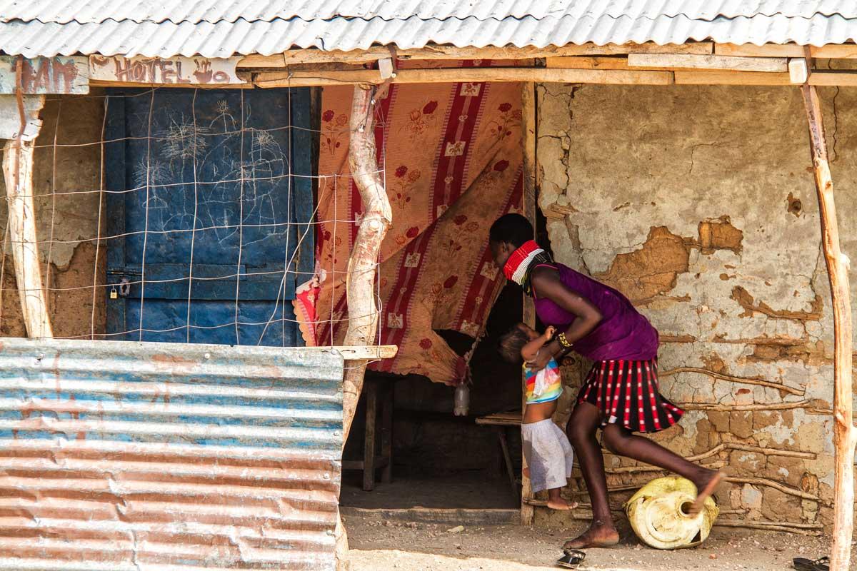 En el mercado en Kakuma