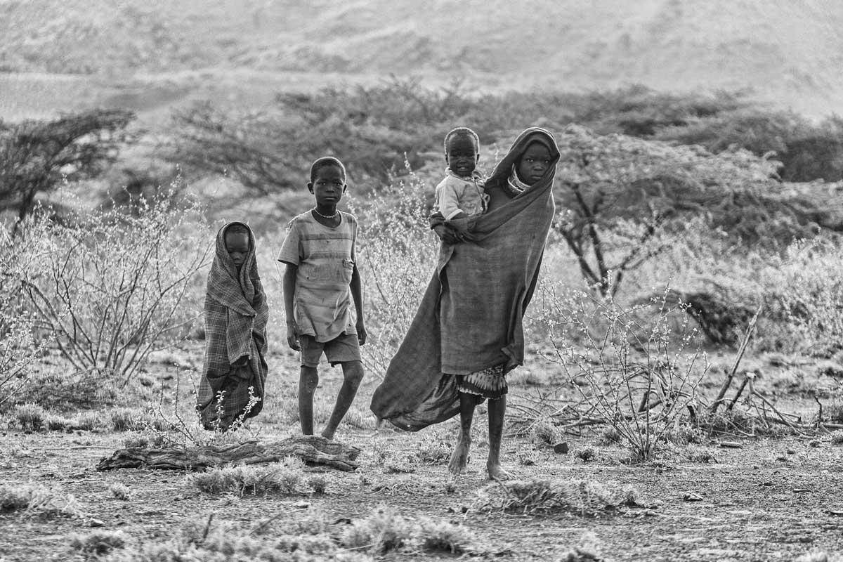 Familia Turkana por la mañana