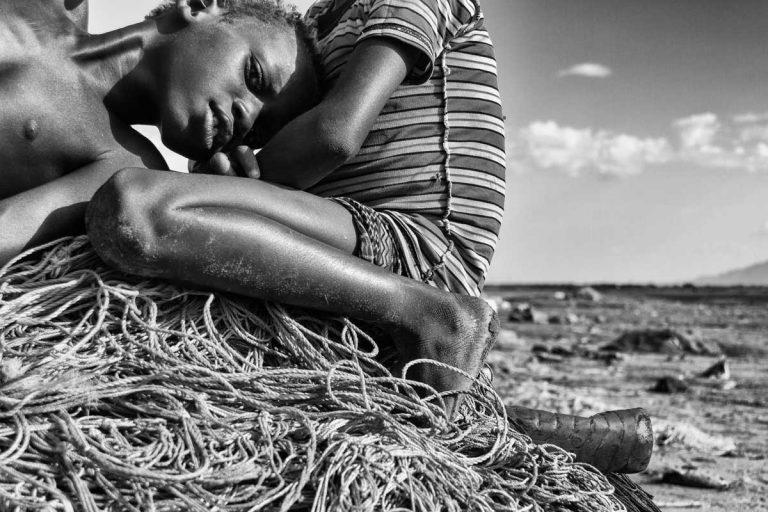 Niños en el Lago Turkana