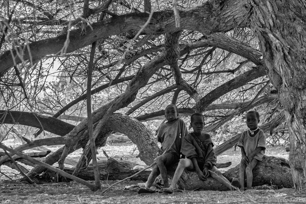 Niños en el bosque Turkana
