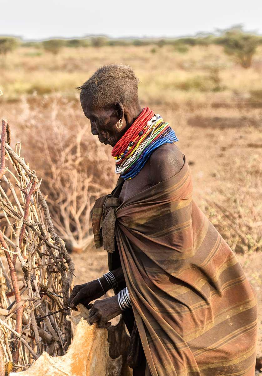 Pueblo Turkana por la mañana