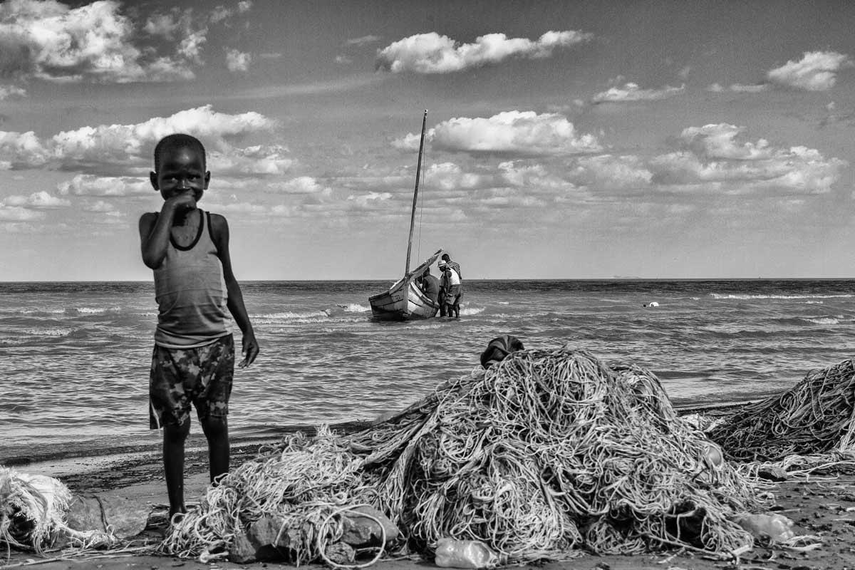 Redes a la orilla del Lago Turkana