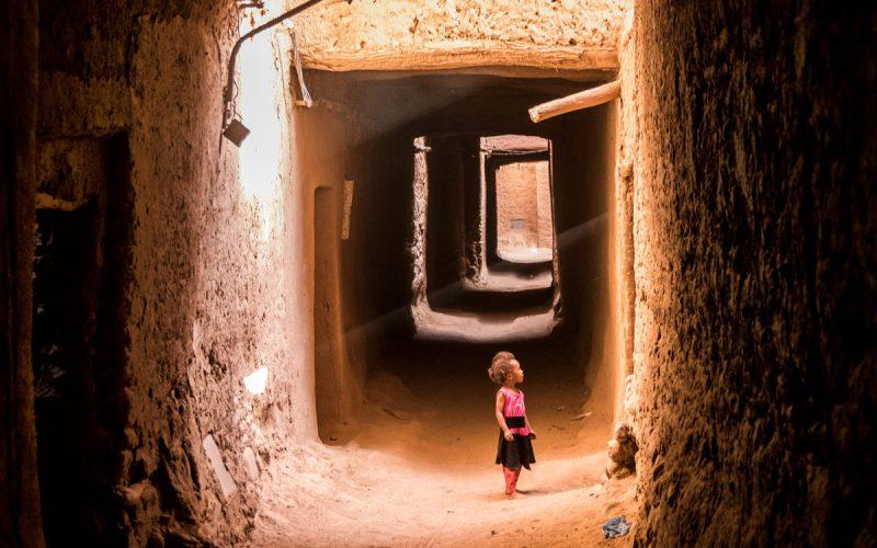 Infancia en los pueblos de barro Marruecos