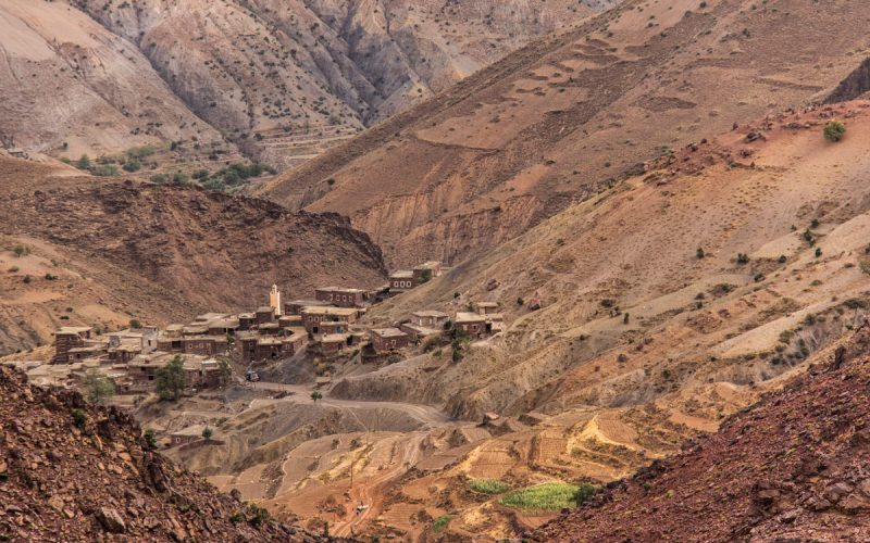 Pueblo de barro y piedra Marruecos