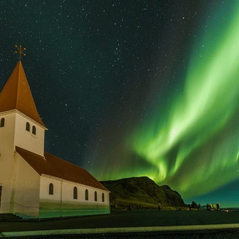 Aurora Boreal en Vik Islandia