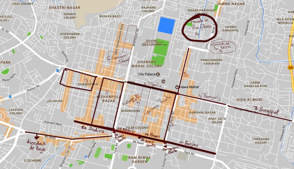 Mapa Mercados Jaipur