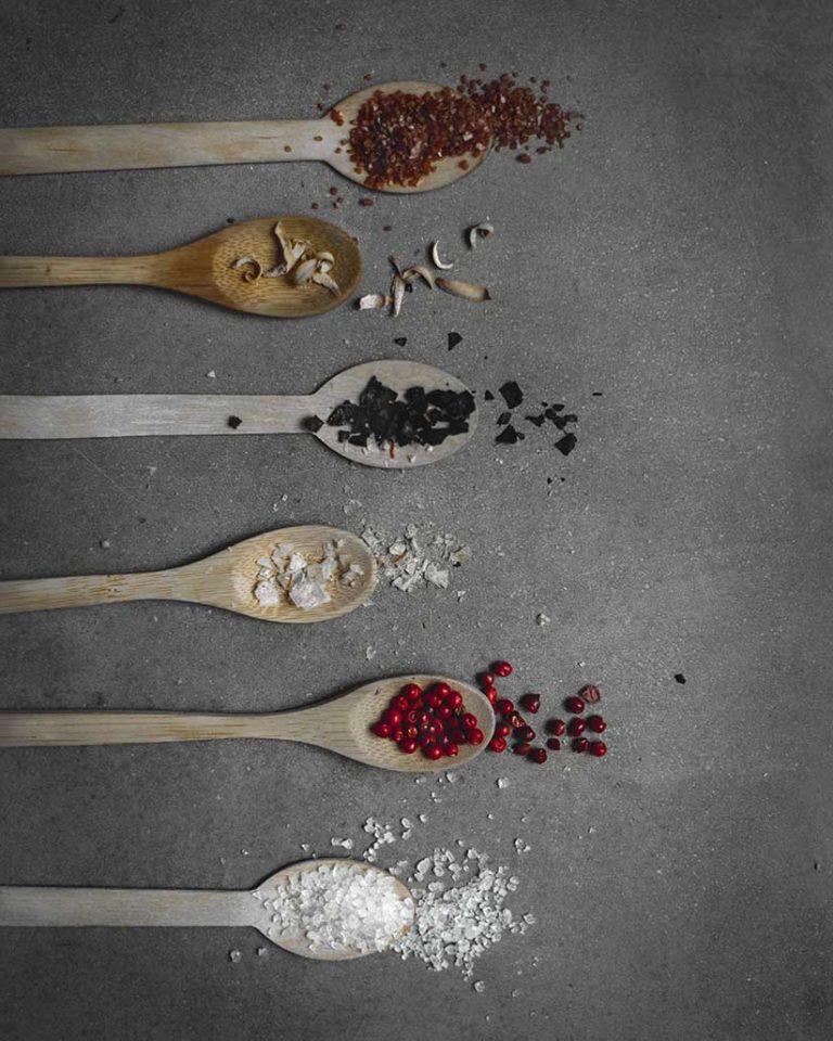 Fotografia gastronomica especias