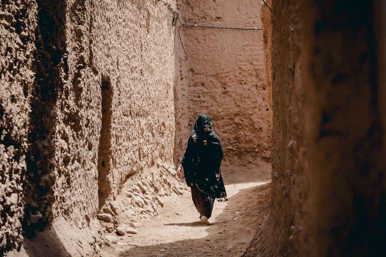Mujer bereber en el Sahara