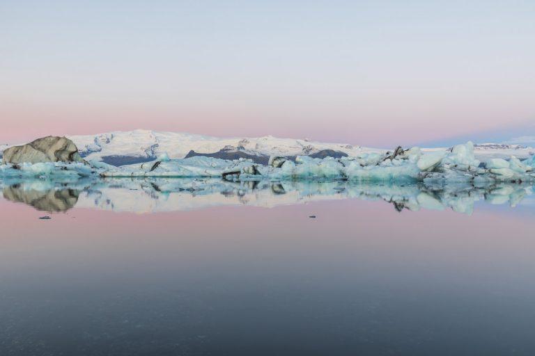 Amanecer en Jokulsarlon Islandia