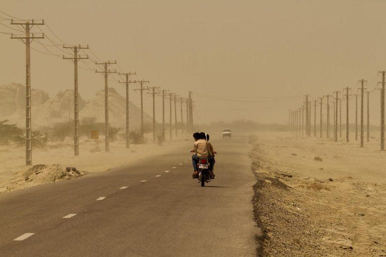 Iran carretera en Hormozgan