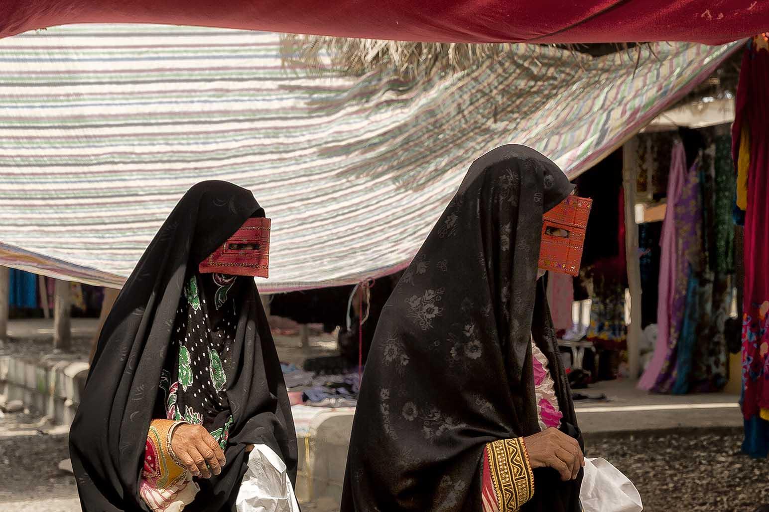 Mujeres bandarí en Minab